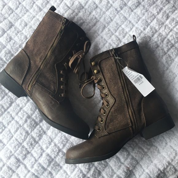 Brand New Pacsun Dark Brown Combat Boots Size 9 Pacsun Combat Boot (brand black poppy)- In perfect condition. Size 9. No defects or stains. Black Poppy Shoes Combat & Moto Boots
