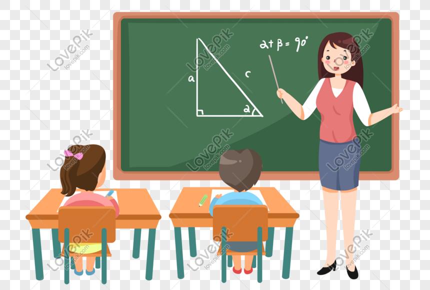 giáo viên vẽ tay cho học sinh một lớp trong 2020 Giáo