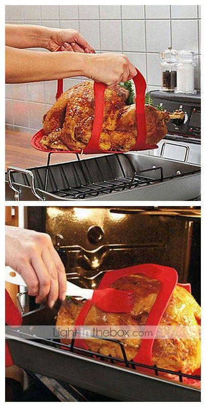 17 58 Thickened Silicone Oven Roast Turkey Pad Diy Roast Duck Bake Mat Oven Roasted Turkey Roasted Turkey Roast