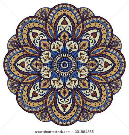 stock-vector-ornate-oriental-mandala-vector-round-colorful-ornament-isolated-on-a-white-background-301884365.jpg (450×470)