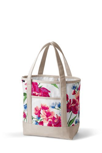 c9c7fc0a3a18 Print+Medium+Open+Top+Tote+from+Lands +End