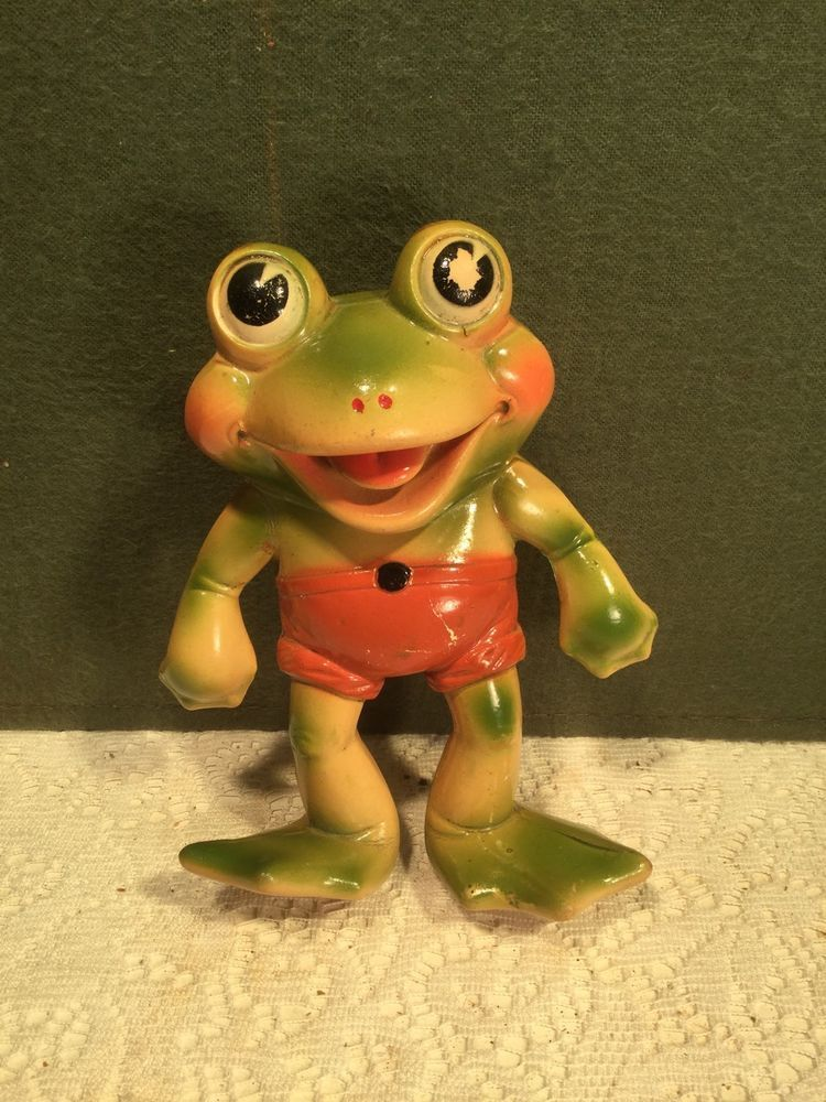 Rempel Frog Froggy 6 Squeeze Toy Good Paint | vintage rubber animals ...