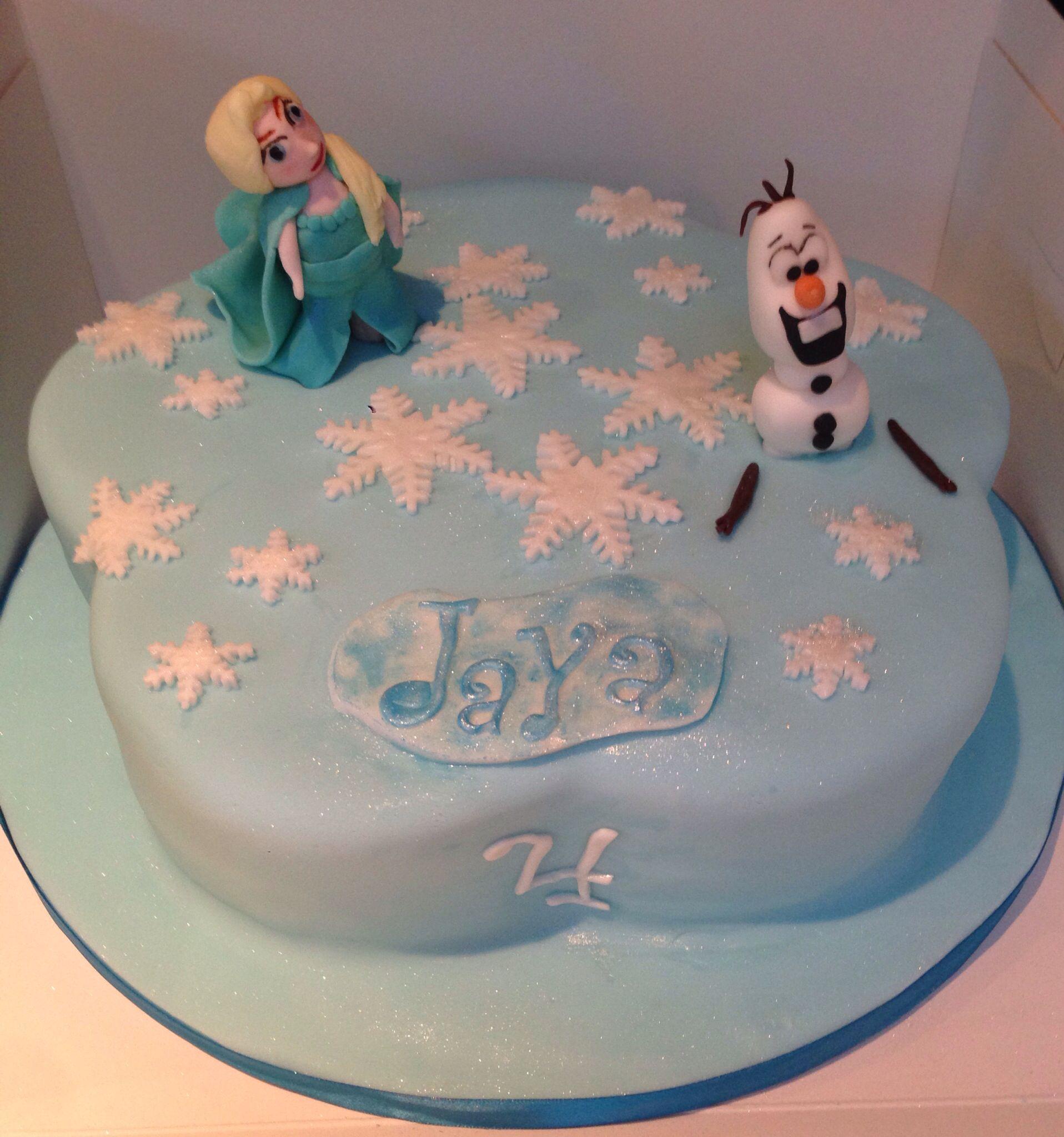 Disney frozen princess elsa and olaf cake i would buy