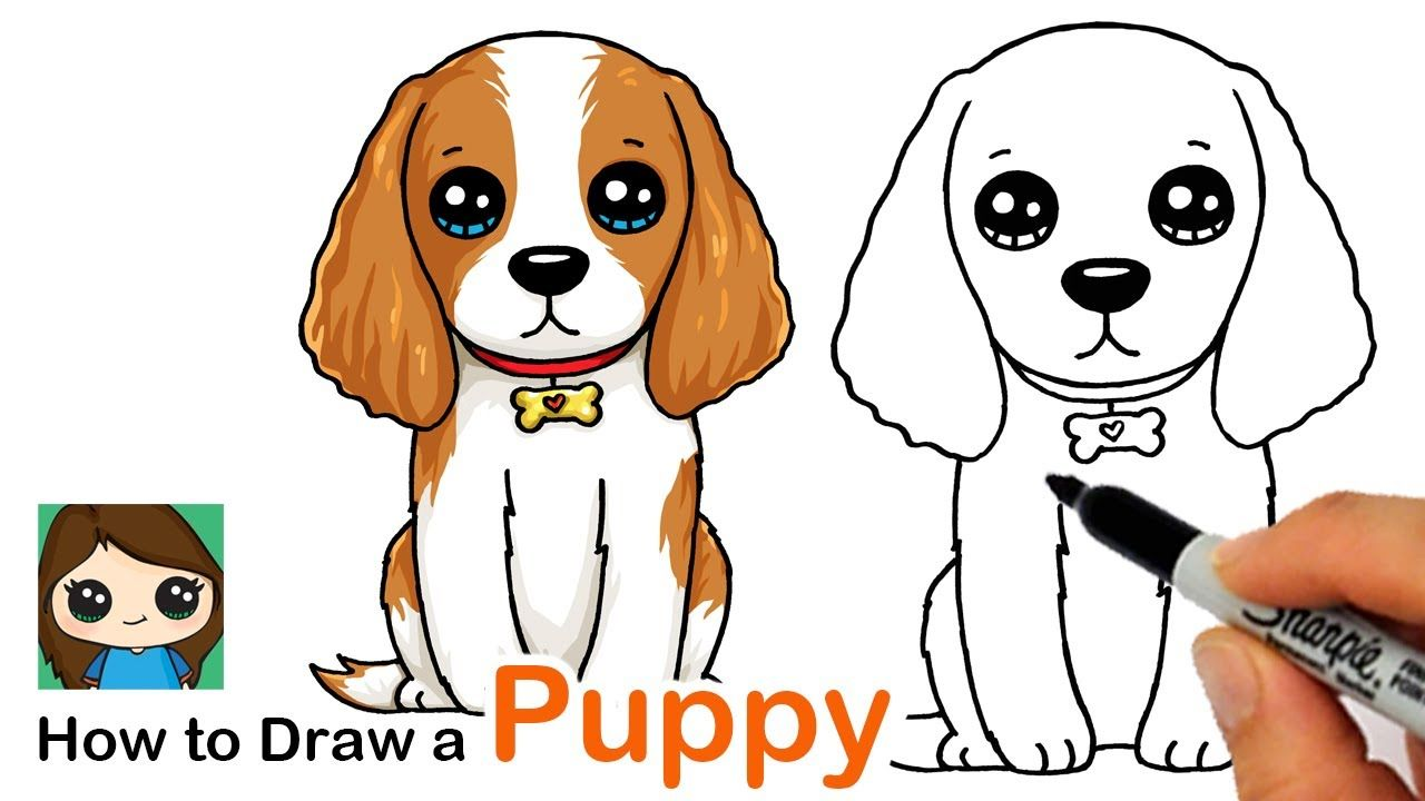 How To Draw A Puppy Dog Drawing Puppy Drawing Puppy Drawing Easy