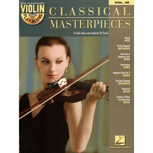 Hal Leonard Classical Masterpieces Violin Playalong Volume 25 Bookcd Want To Know More Click On The Image Note It Is Affiliate Violin Music Violin Music