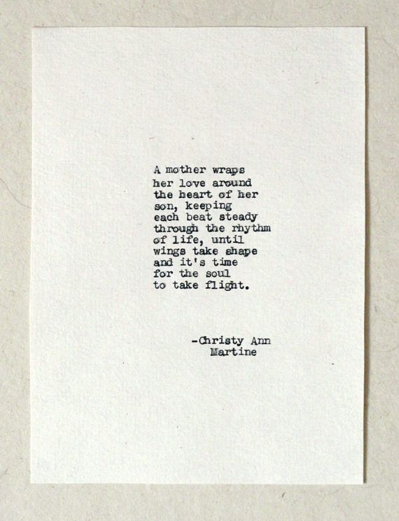 Mothers Day Gift from Son - Mother Son Gifts - Poem - Hand Typed by ...