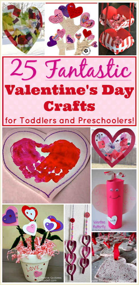 Valentine Crafts for Preschoolers: 25 Easy Projects for Toddlers ...