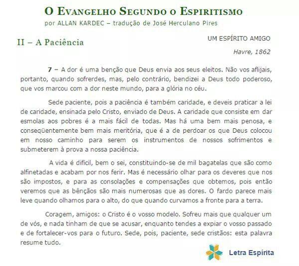 O Evangelho Segundo O Espiritismo   Allan Kardec Trechos De   Resume No Nos  Resume No Nos