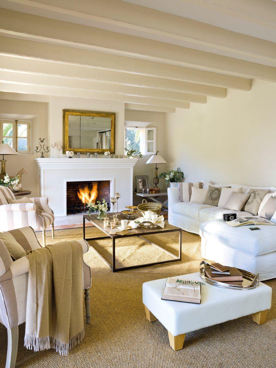 15 salones con chimenea decoracion home d cor cozy - Decorar salones con chimenea ...