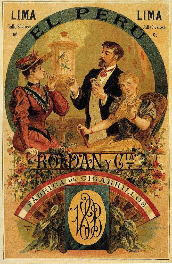 Cigarrillos el peru carteles antiguos pinterest - Carteles publicitarios antiguos ...