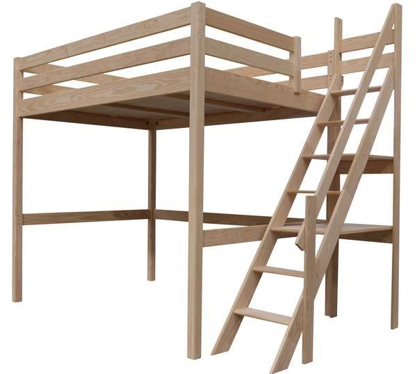 lit mezzanine sylvia avec escalier de meunier bois en 2019