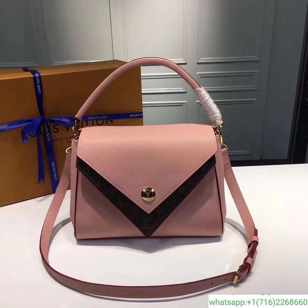 cdb46f6c194 LV Louis Vuitton Monogram Double V Handbag M54624 Leather Shoulder Bag  385