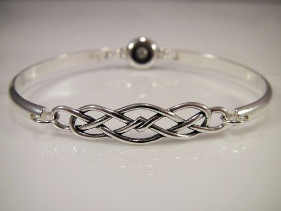 This Beautiful Locking Bracelet Features A 6 Gauge Half Round Sterling Silver Wire With Celtic Knot And Clasp
