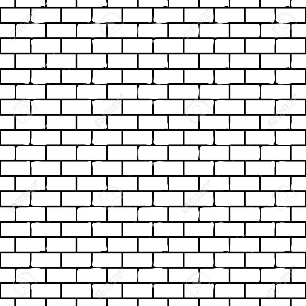 Seamless Monochrome Pattern With Bricks Vector Endless Texture Illustration Aff Pattern Bricks Business Icons Vector Vintage Frames Vector Vector Free