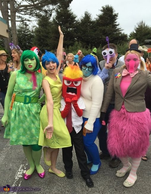 Inside Out Group Halloween Costumes