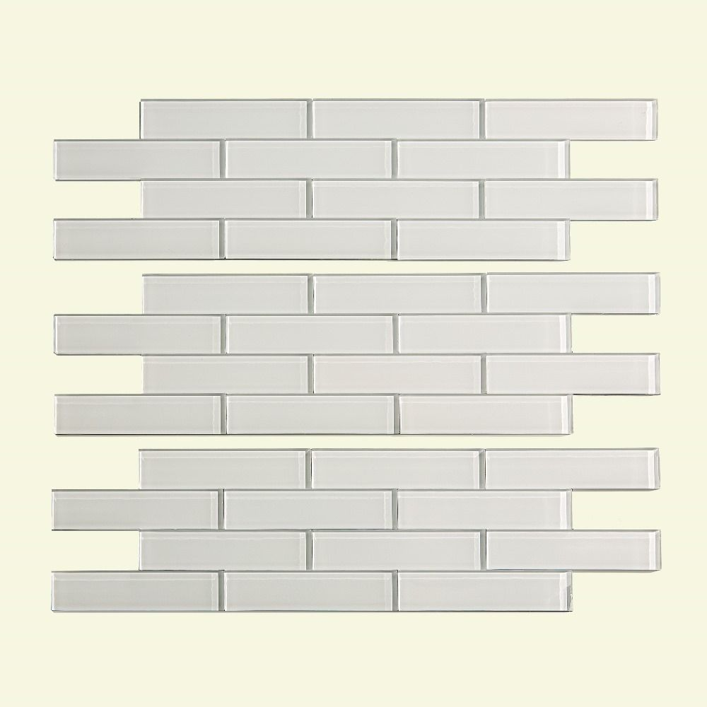 Aspect Glass 12x4 Inch Matted Subway Tile In Frost Peel Stick Tiles 3 Pack Decorative Tile Backsplash Backsplash Panels Glass Backsplash
