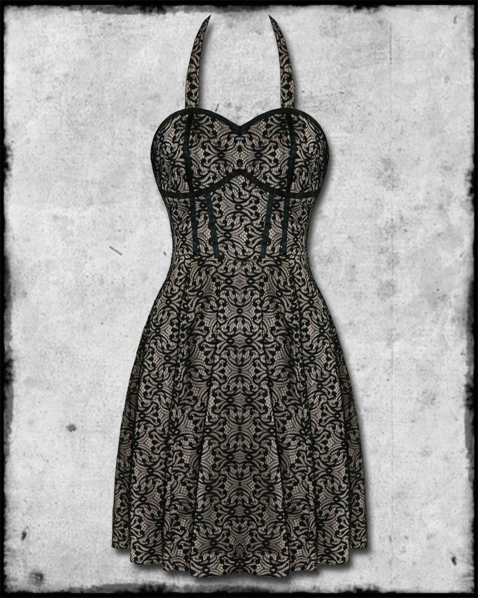 Bedroom stories cream black lace rockabilly pinup goth steampunk