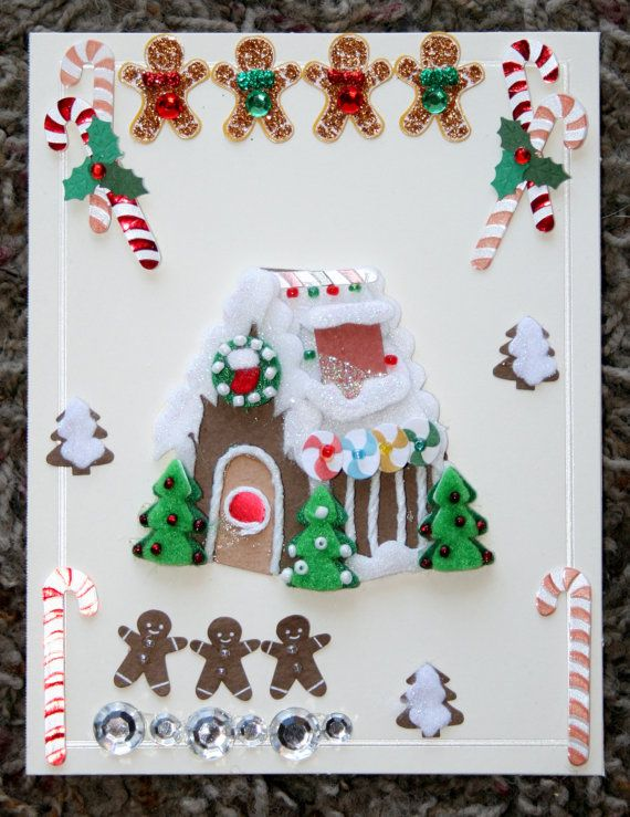 Gingerbread Galore Christmas Blank Card by GIFToLOTY on Etsy, $4.50