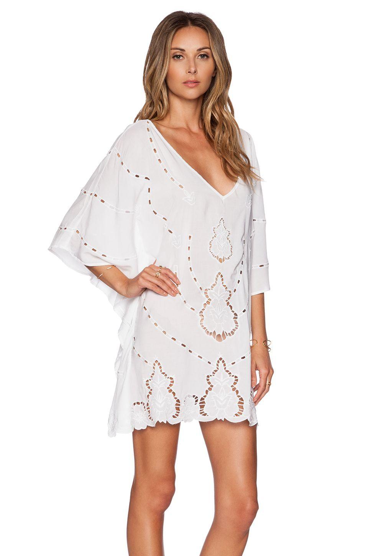 1d518d01f0c37 Vix Swimwear Embroidery V Caftan in White   REVOLVE   {style ...