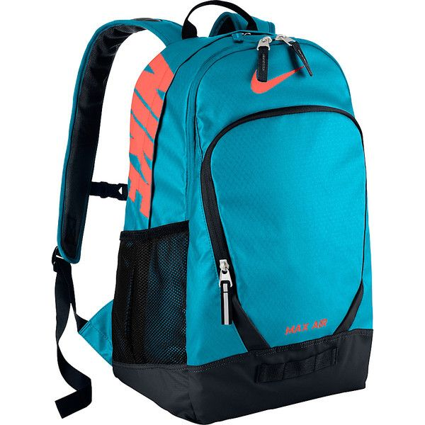 Nike Team Training Max Air Large Backpack ( 60) ❤ liked on Polyvore  featuring bags 7e3fe42325ff0