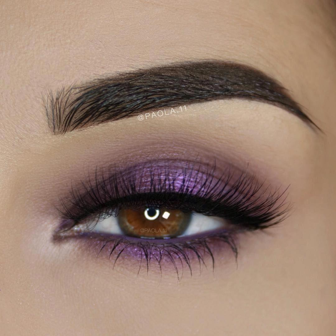 Simple purple eye makeup #gorgeouseyemakeup