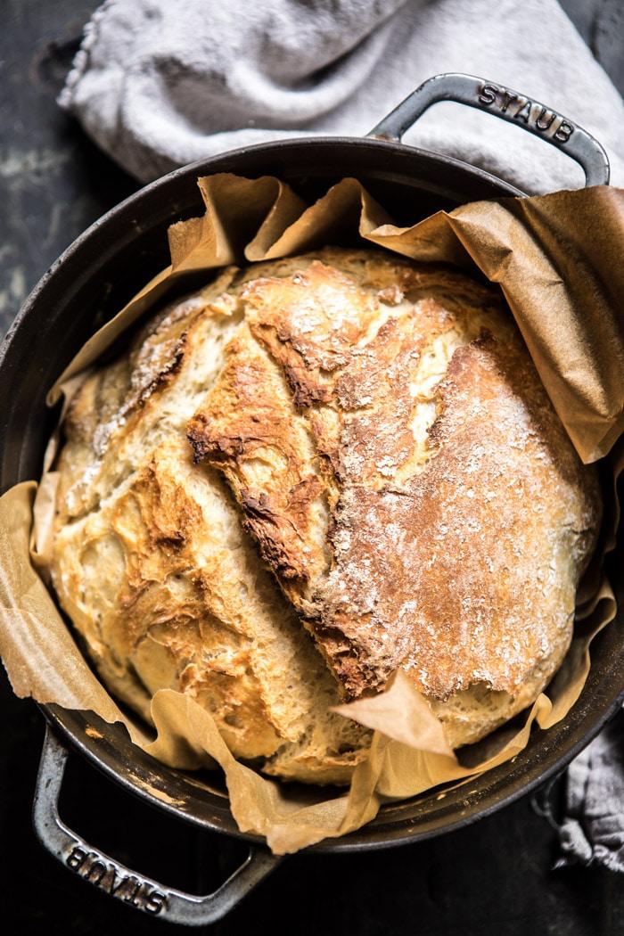 Cheaters No Knead Dutch Oven Sourdough Bread. - Half Baked ...