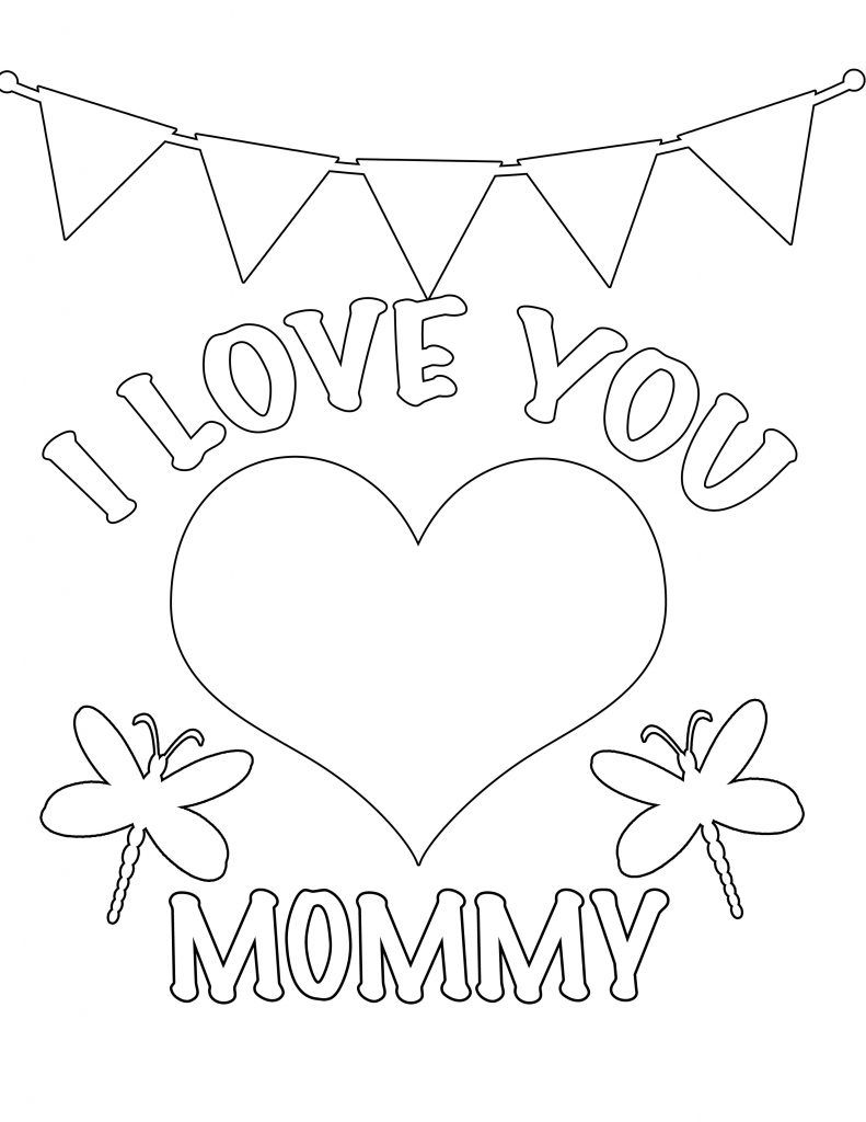 Preschool printables i love you mommy