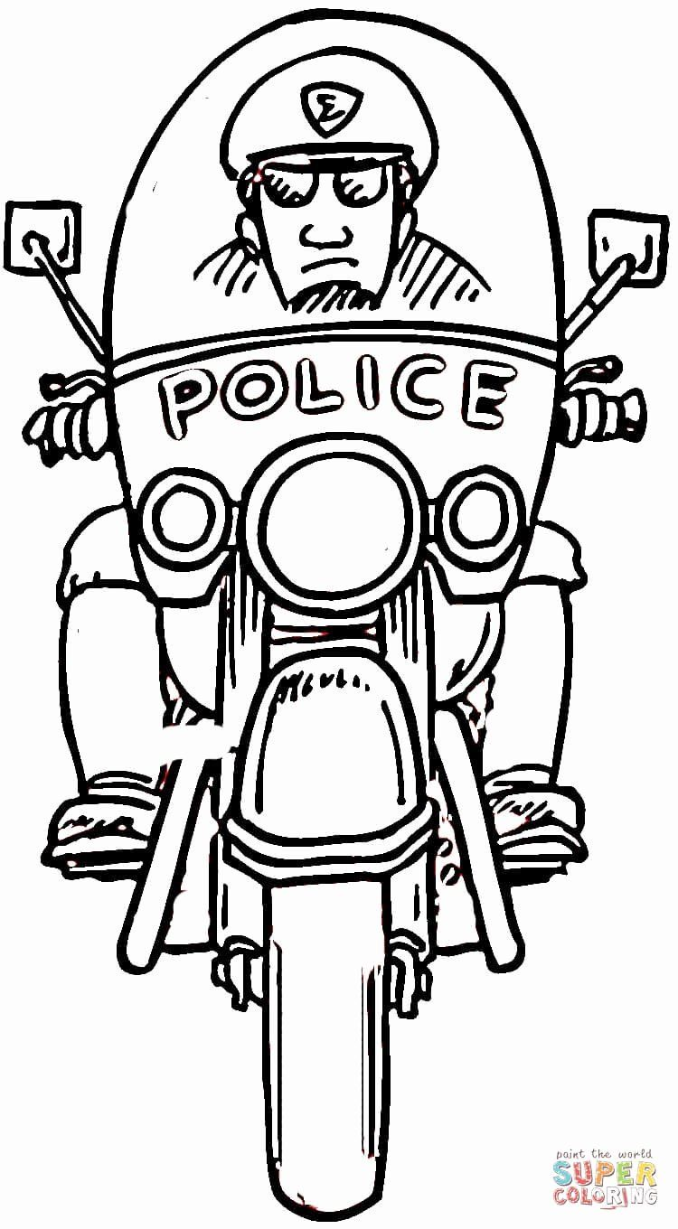 Police Officer Coloring Page Beautiful Motorcycle Policeman
