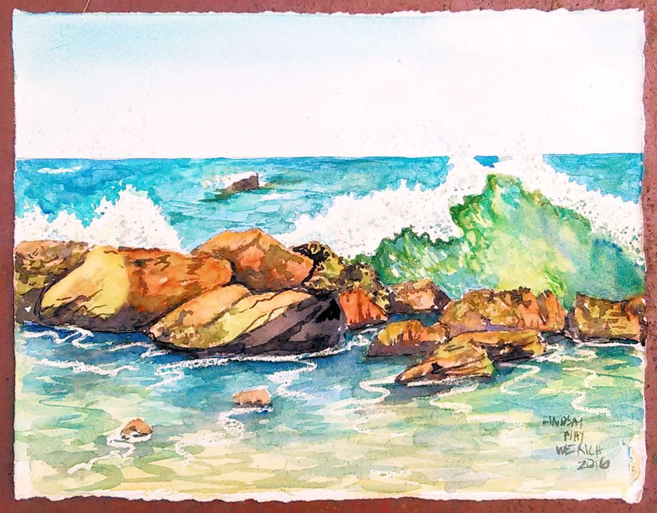 Seascapelive Final Watercolor Paintings Tutorials Seascape The