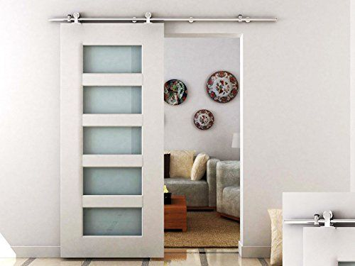 diyhd 1 5m top mount stainless steel sliding barn wood door closet