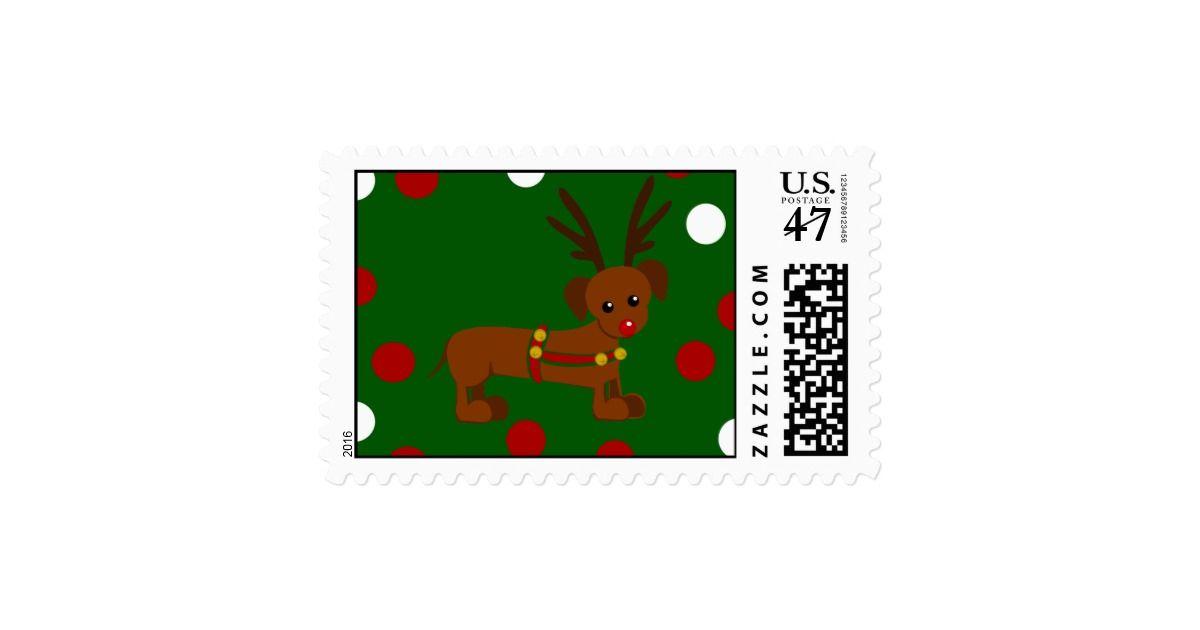 Dachshund Christmas Postage | Custom Christmas Postage Stamps | #ChristmasStamps
