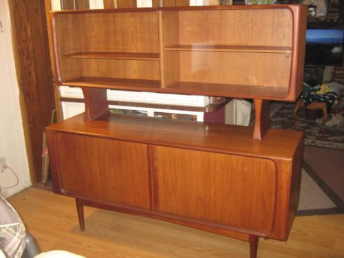 Vintage Danish Credenza : Vintage danish credenza with floating hutch by bps m handmade in