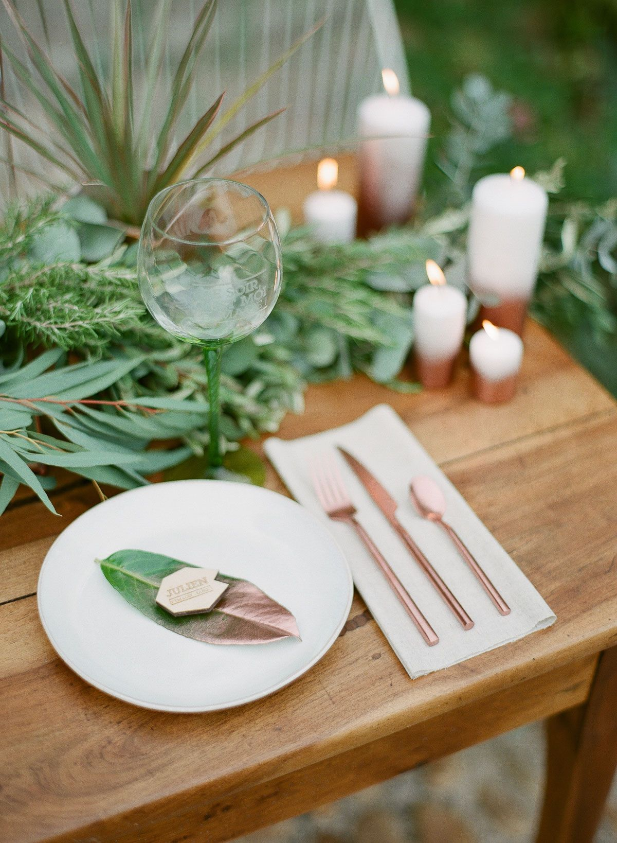 Provence Destination Wedding By (C) Greg Finck Table Setting