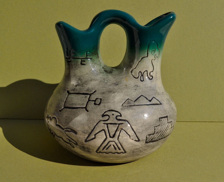 Vintage Native American Wedding Vase Native american
