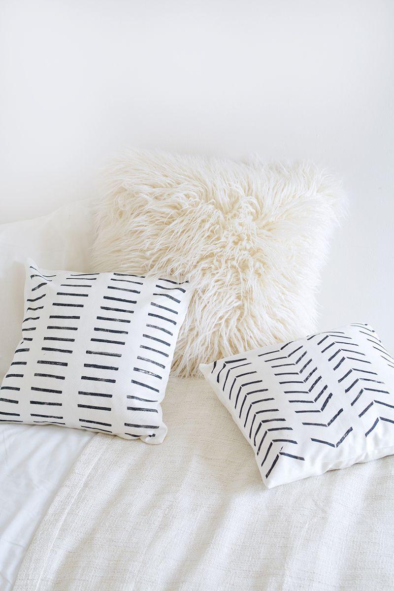 Diy Mudcloth Cushions Diy Pillows Diy Pillow Covers Diy Cushion
