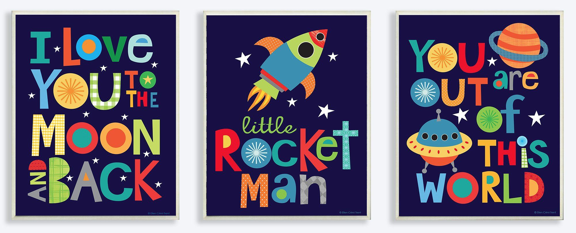 The kids room by stupell i love you to the moon and back textual art