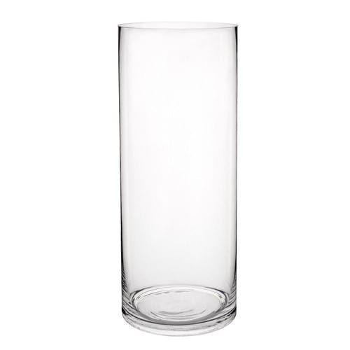 Vaso cilindrico in vetro H 40 cm