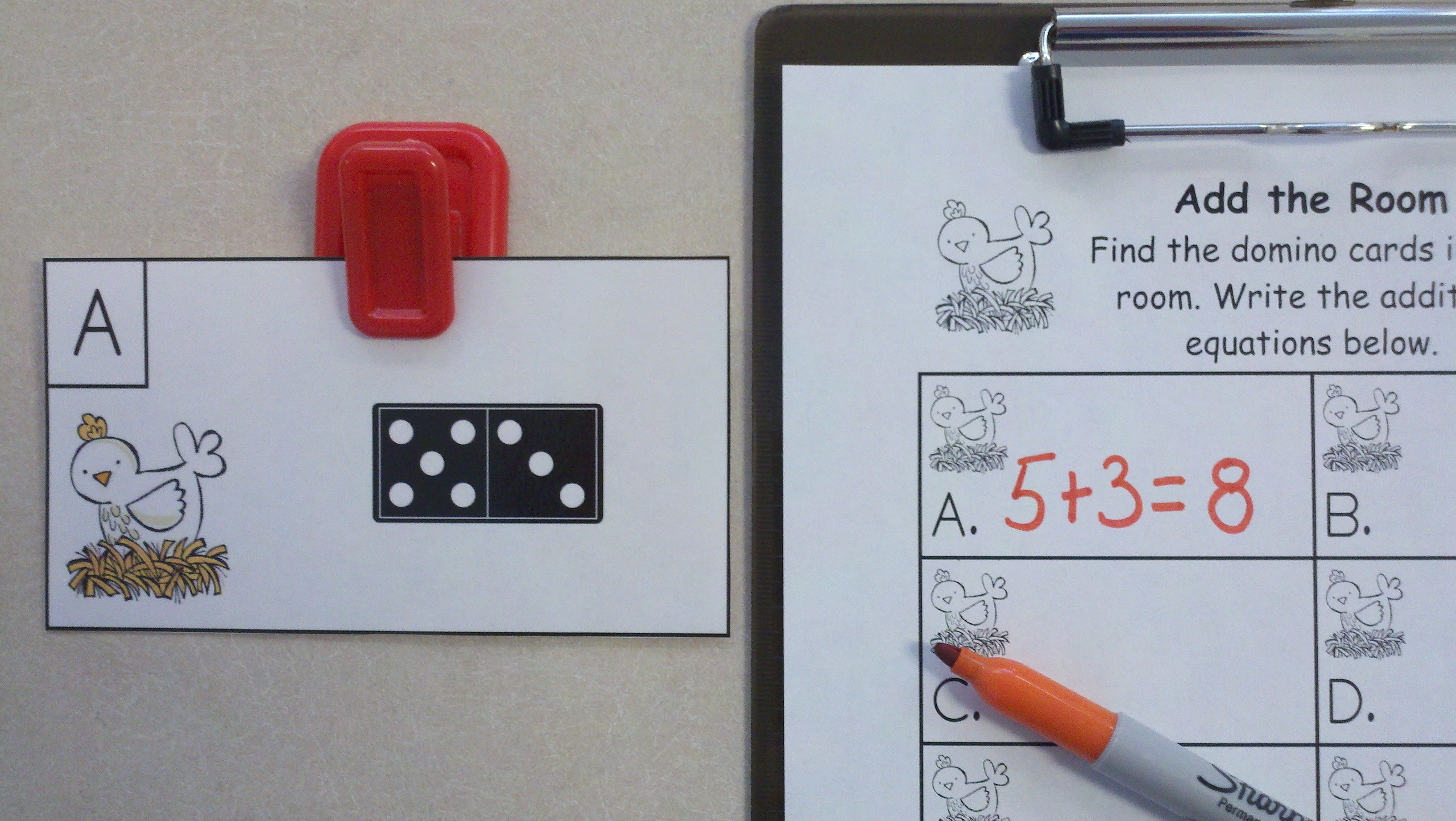 Farm Friends Domino Add the Room (Sums of 0 to 10) | Farming, Math ...