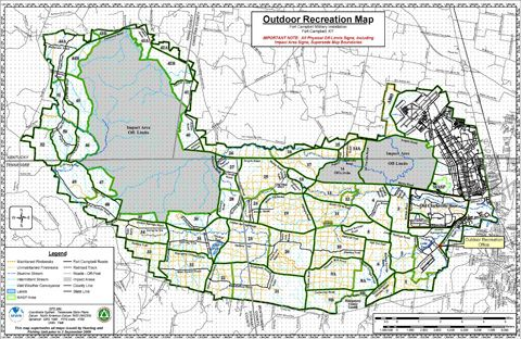 Fort Polk Army Base Outdoor Recreation Hunting Training Area Map