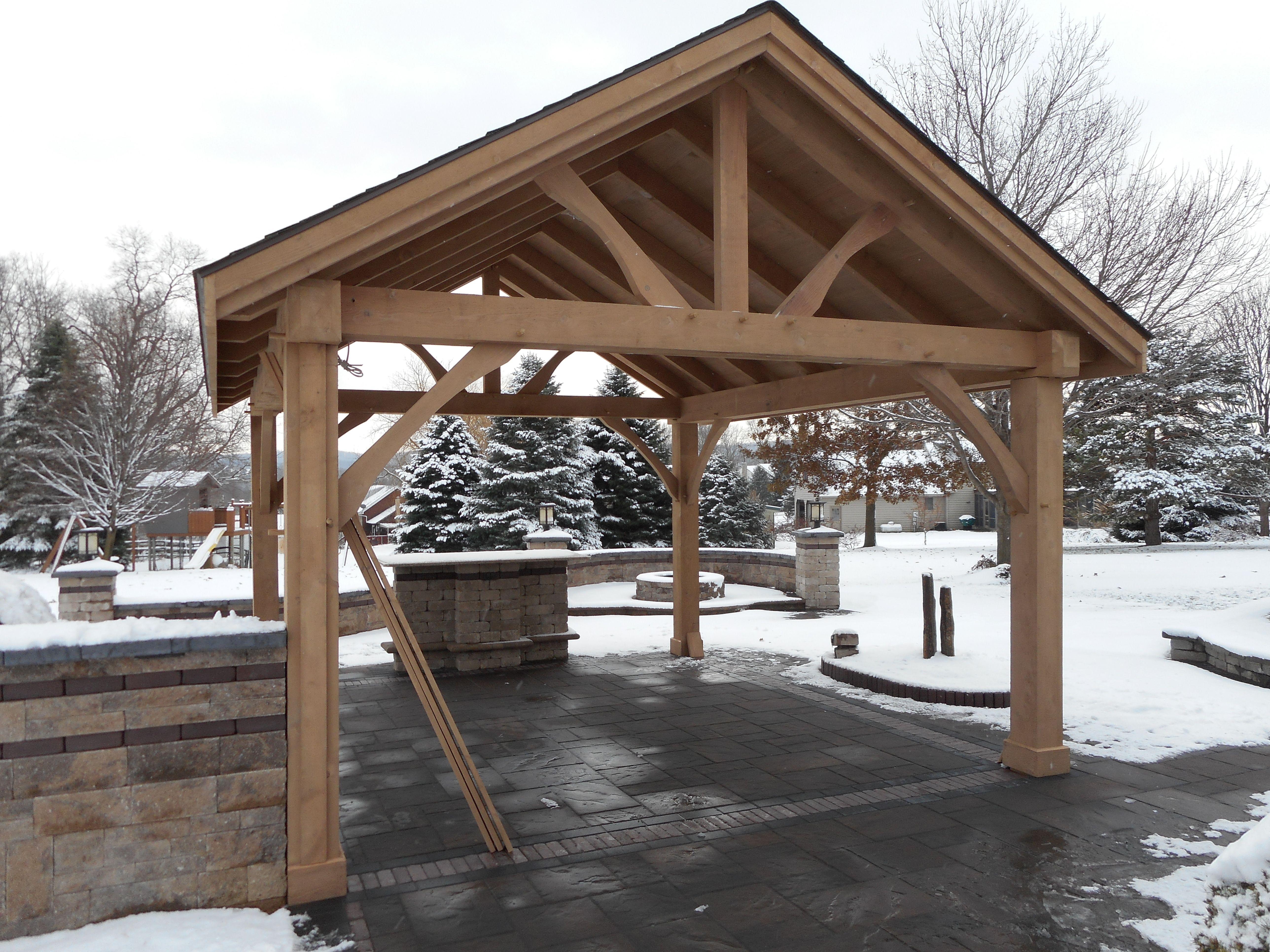Rough Sawn Pavilion Pavilion Gazebo Patio