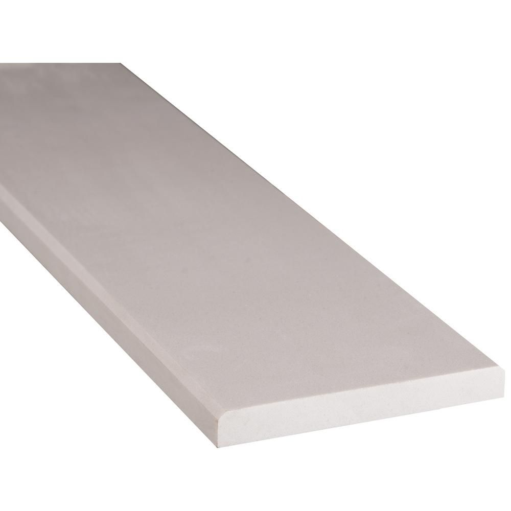Msi White Double Bevelled 6 In X 36 In Engineered Marble Threshold Floor And Wall Tile Thd2wh6x36db The Home Depot Marble Threshold Wall Tiles Marble Wall Tiles