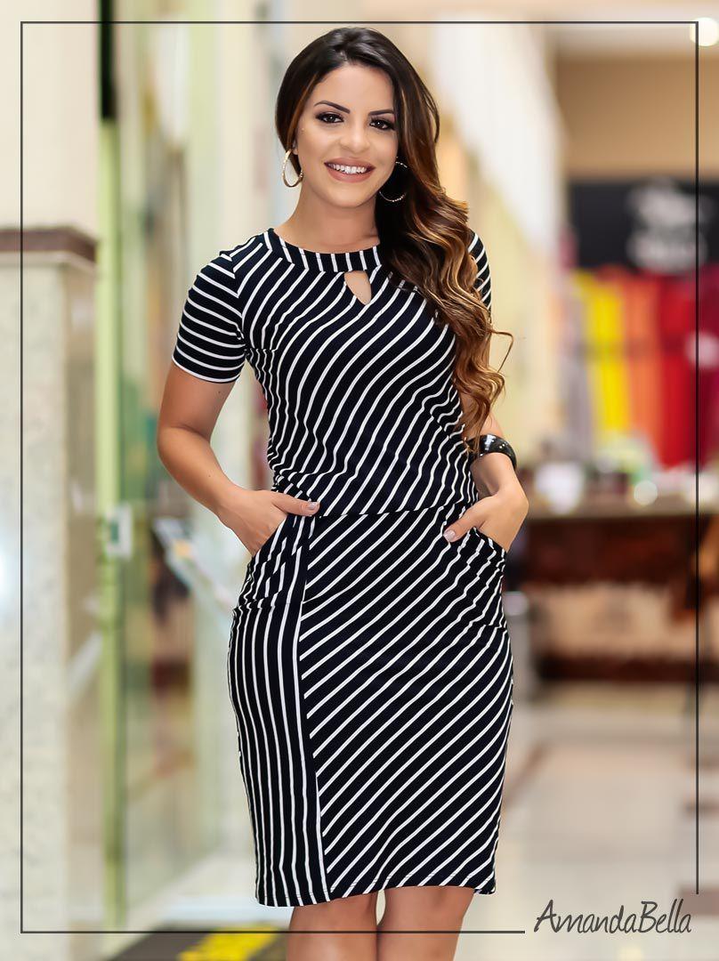 e8fe20656 Vestido Evangélico Feminino com Elástico na Cintura | Boutique K ...