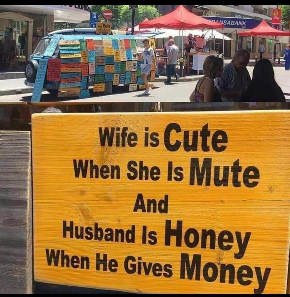Wife is Cute When she is Mute and Husband is Honey When he ...