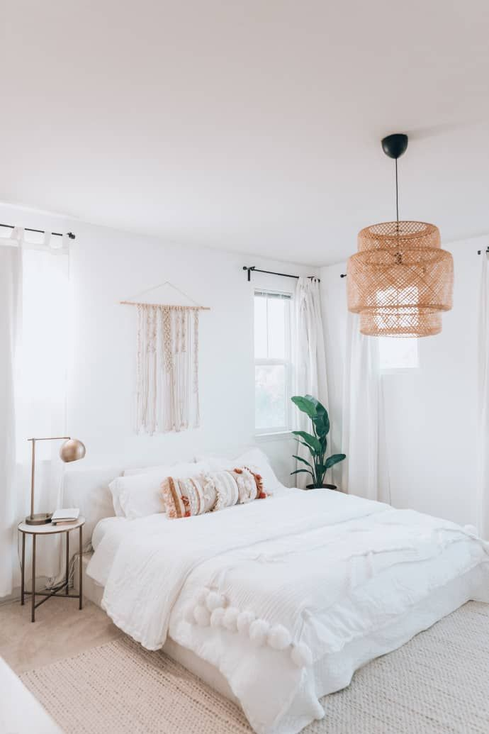 A Builder-Basic Rental Home Got a Warm and Welcoming Makeover -   17 home decor for cheap diy bedrooms ideas