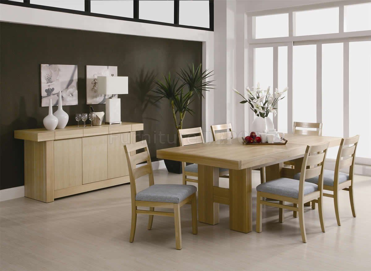 Natural Light Ash Finish Modern Dining Room Set  Httpwww Amazing Cheap Dining Room Chairs Set Of 6 Design Inspiration