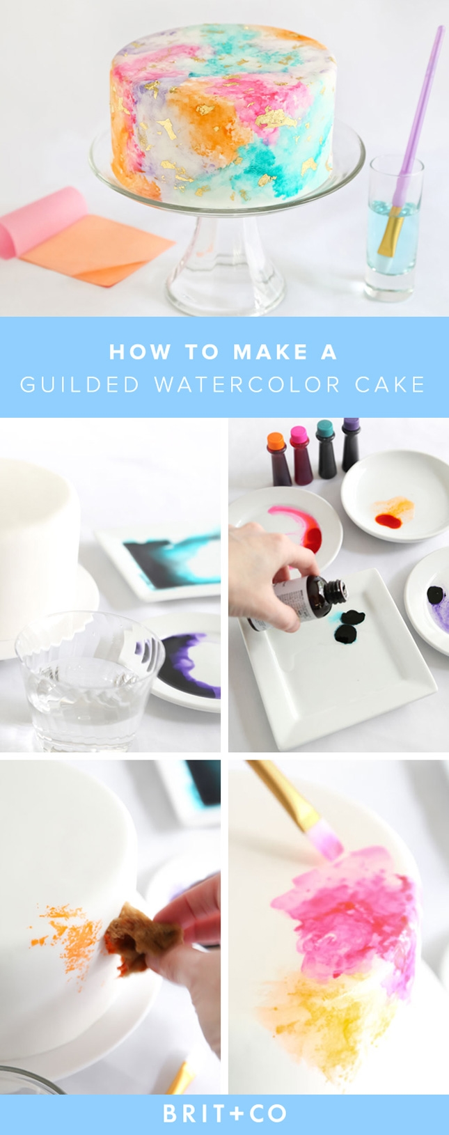 Make this gorgeous watercolor cake for your next get-together this summer. Amazing Cake for you  #cakerecipe  #food