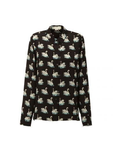STELLA MCCARTNEY Stella Mccartney Swan Print Shirt. #stellamccartney #cloth #shirts