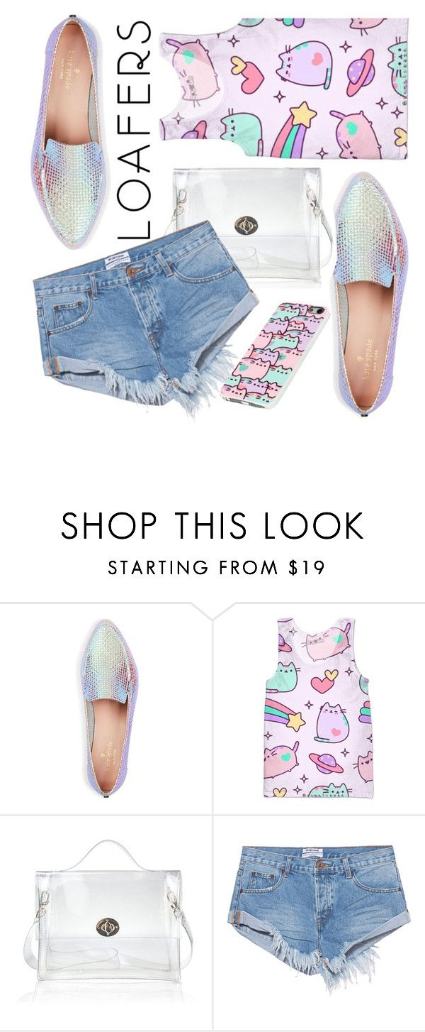 """""""Loafers"""" by janicevc ❤ liked on Polyvore featuring Kate Spade, Pusheen and One Teaspoon"""