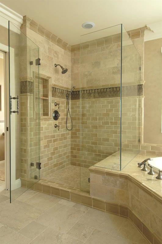 bathroom shower accent tile ideas tiled  | bathroom