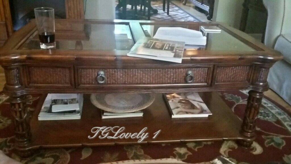 American Signature West Indies Series Coffee Table With Drawer Coffee Table With Drawers Coffee Table Entryway Tables